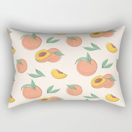 Peach with leaves Rectangular Pillow
