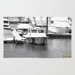 Boats BW Rug