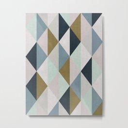 Triangle Pattern IV Metal Print