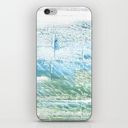 Mint cream abstract watercolor iPhone Skin