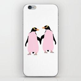 Gay Pride Lesbian Penguins Holding Hands iPhone Skin