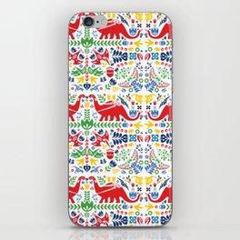 Swedish Folk Art Dinosaurs iPhone Skin