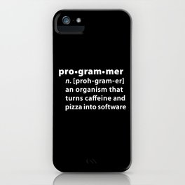 Programmer dictionary definition iPhone Case
