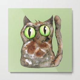 Tortoiseshell cat Metal Print