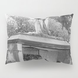 Old broken grave with angel Pillow Sham