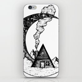 Cabin on the Moon iPhone Skin