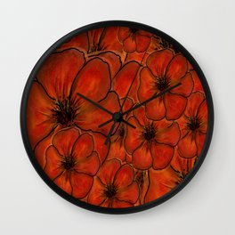 Orange You Red Wall Clock