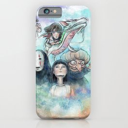 Spirited Away Watercolor Painting iPhone Case