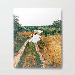 Free Spirit || #painting #nature Metal Print
