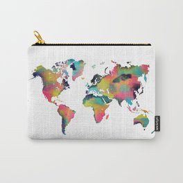 world map 3 Carry-All Pouch
