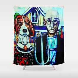 Gothic Beagle Shower Curtain