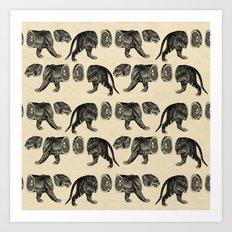 Deconstructed tiger Art Print