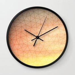 Montage Mountain Sunset Wall Clock
