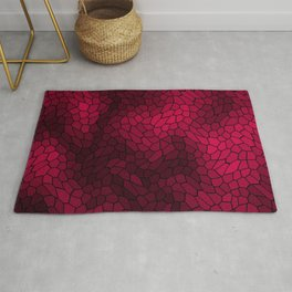 Stained glass texture of snake pink leather with dark heat spots. Rug