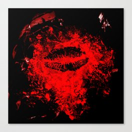 Gothic Bloody Kiss Canvas Print