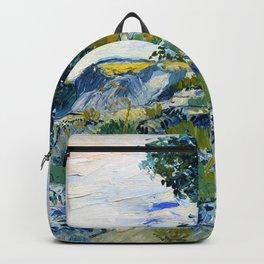 Vincent van Gogh - The Rocks, Rocks With Oak Tree - Digital Remastered Edition Backpack