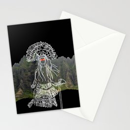 rocky mountain woman Stationery Cards