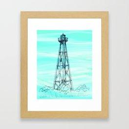 Sanibel Lighthouse Framed Art Print