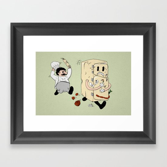 Your Fridge is Running Framed Art Print