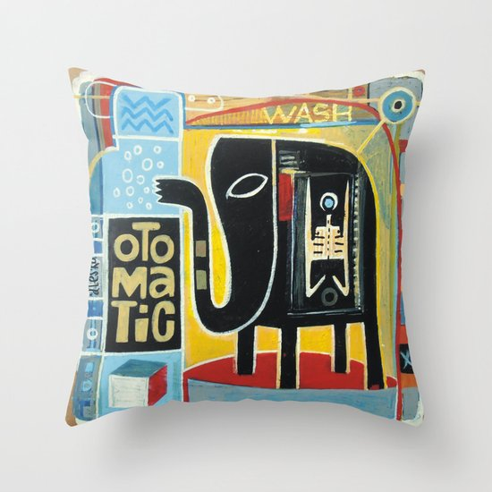 Washing Throw Pillows At Home : Otomatic Wash Throw Pillow by Exit Man Society6
