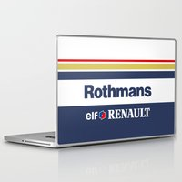 f1 Laptop & iPad Skins featuring Williams F1 Rothmans Ayrton Senna by Krakenspirit