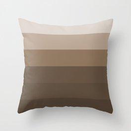 Brown Taupe Stripes Throw Pillow