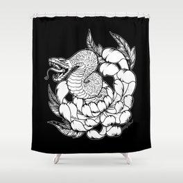 Snake Chrysanthemum Shower Curtain