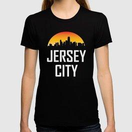 Sunset Skyline of Jersey City NJ T-shirt