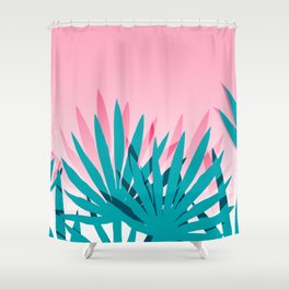 Dissed - memphis retro vintage neon pink pastel ombre trendy girl gift for hipster urban beach goer Shower Curtain