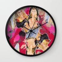britney Wall Clocks featuring Britney by GREATeclectic