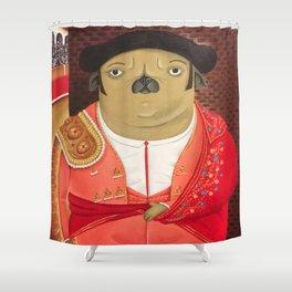 Matador Pug Shower Curtain