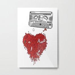 Jx3 Music Series - SIX - Analog Love Metal Print