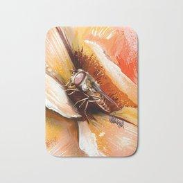 Fly on flower 8 Bath Mat