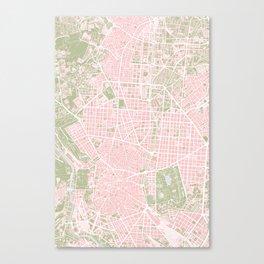Madrid map vintage Canvas Print