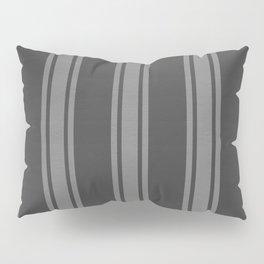 Grey striped pattern Pillow Sham