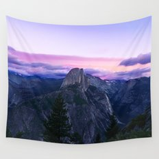 The Mountains and Purple Clouds Wall Tapestry