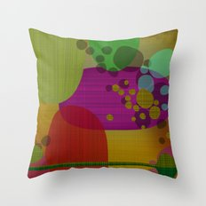 retro lounge organic no3 Throw Pillow