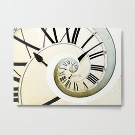 Abstract Clock Metal Print