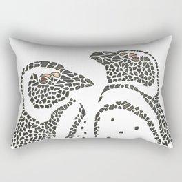 Vanishing Penguins by Black Dwarf Designs Rectangular Pillow