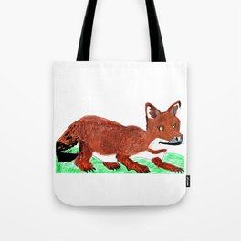 Crouching Dhole Tote Bag