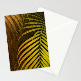 TROPICAL LEAVES GREEN MOCCA no4 Stationery Cards