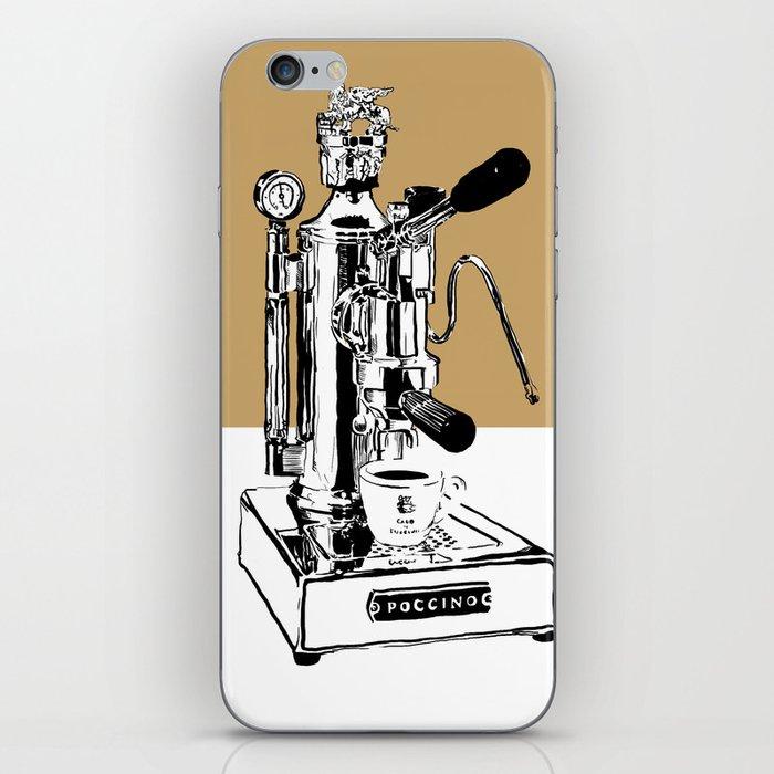 Arte di Poccino Espresso maker pop art print iPhone Skin