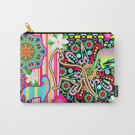Mandalas, Cats & Flowers Fantasy Pattern Carry-All Pouch