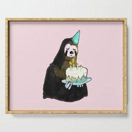sloth birthday Serving Tray