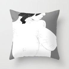 woman calm Throw Pillow