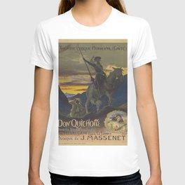 Don Quixote & Sancho Panza Theater Poster T-shirt