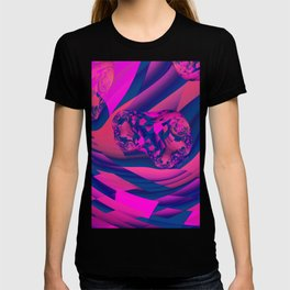Creating Worlds – Abstract Magenta & Sapphire Magic T-shirt