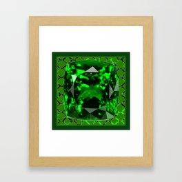 EMERALD GREEN MAY GEM BIRTHSTONE MODERN ART DESIGN Framed Art Print