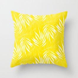 Ash Tree Leaves Scandianvian Pattern Throw Pillow