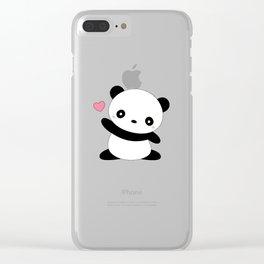 Kawaii Cute Panda Bear Clear iPhone Case